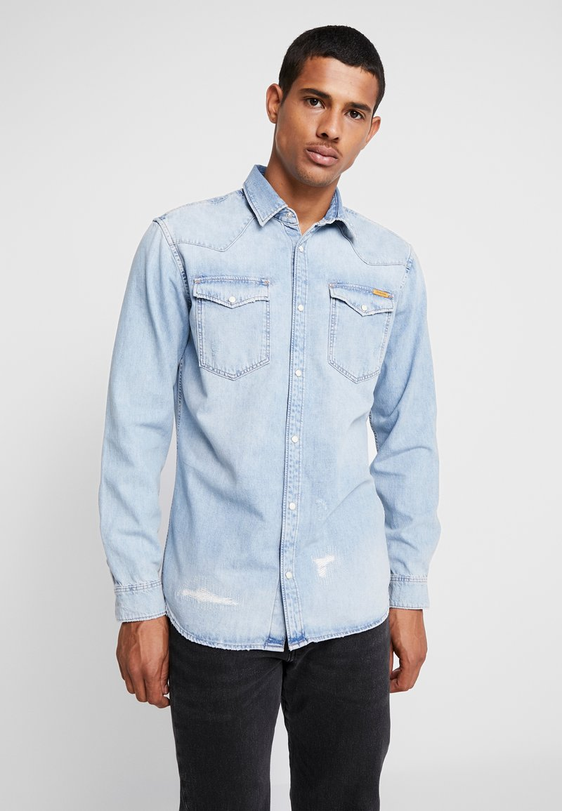 Jack & Jones - JJIJAMES JJSHIRT  - Skjorter - blue denim