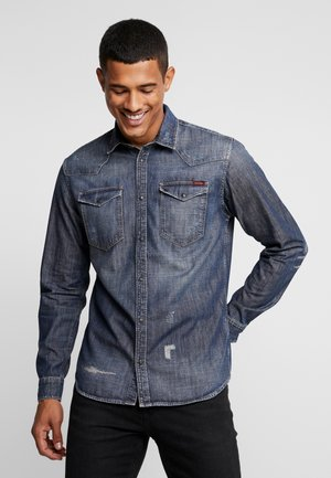 JJIJAMES JJSHIRT - Overhemd - blue denim
