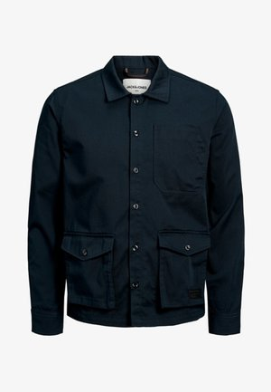 Camisa - mottled dark blue