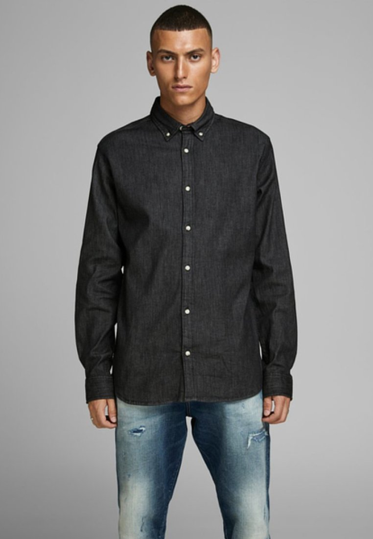 Jack & Jones LEON - Koszula - black denim