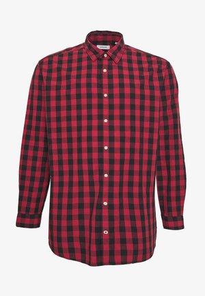 JJEGINGHAM - Shirt - brick red/mixed black