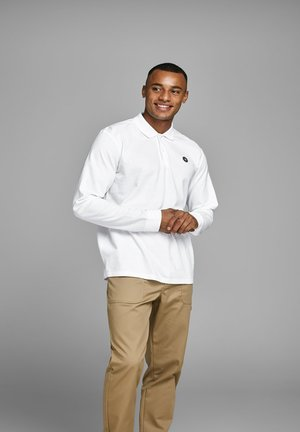 LANGÄRMELIGES - Polo shirt - white