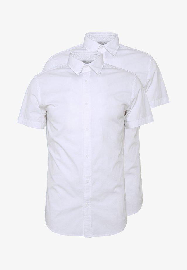 JJCLINT SLIM FIT 2 PACK - Business skjorter - white