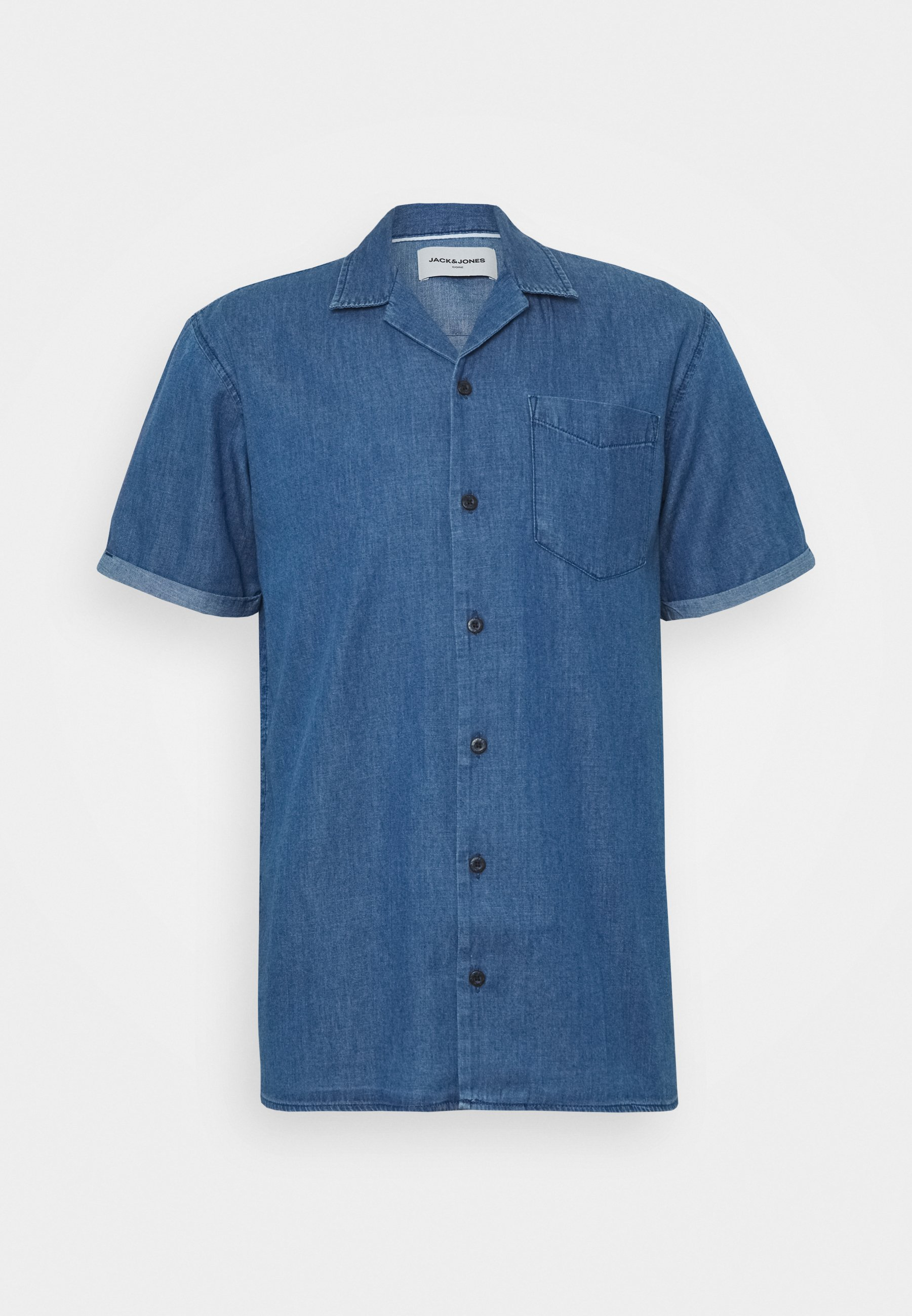 JCOKEN SHIRT ONE POCKET Skjorter medium blue denim