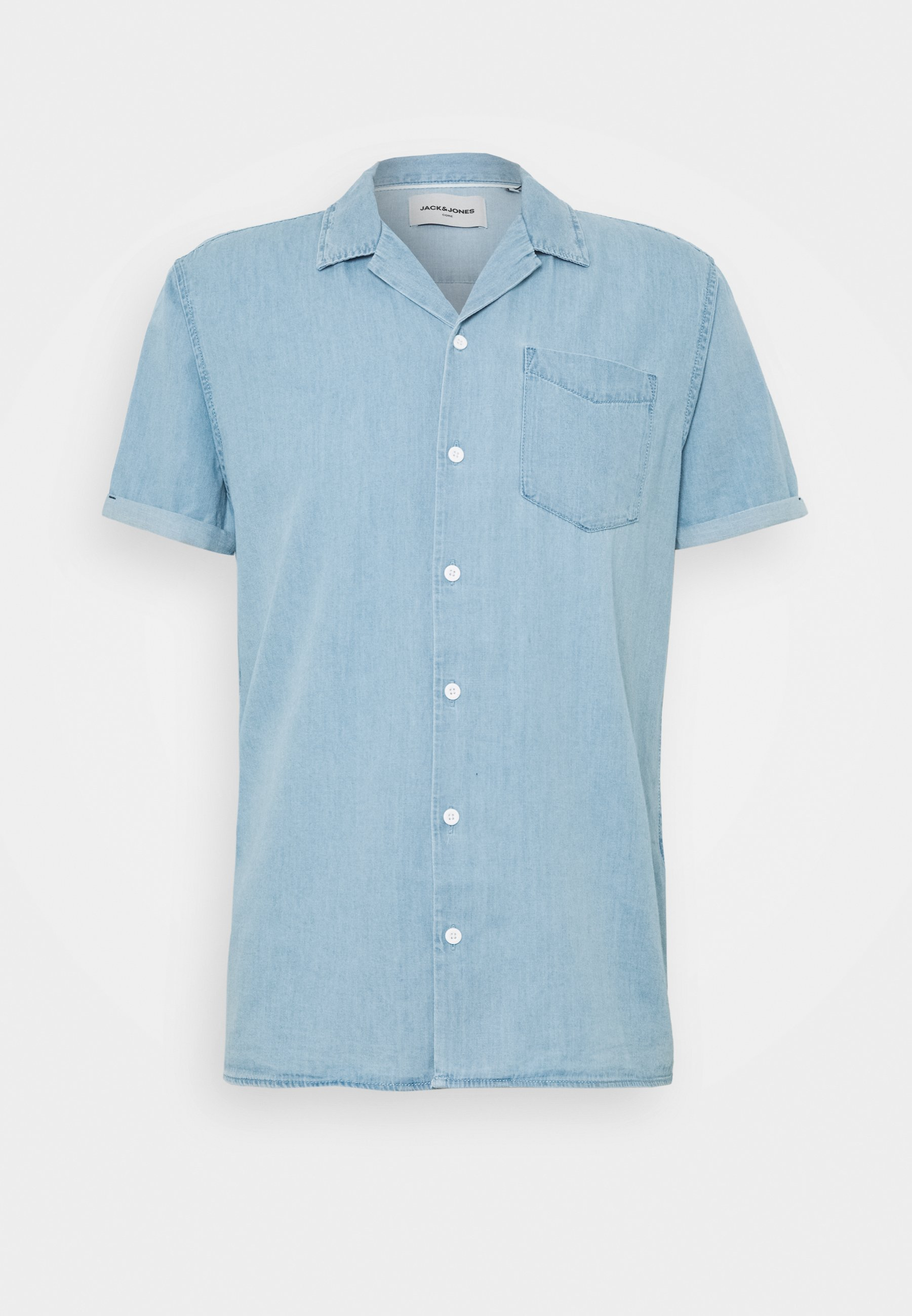JCOKEN SHIRT ONE POCKET Skjorter light blue denim