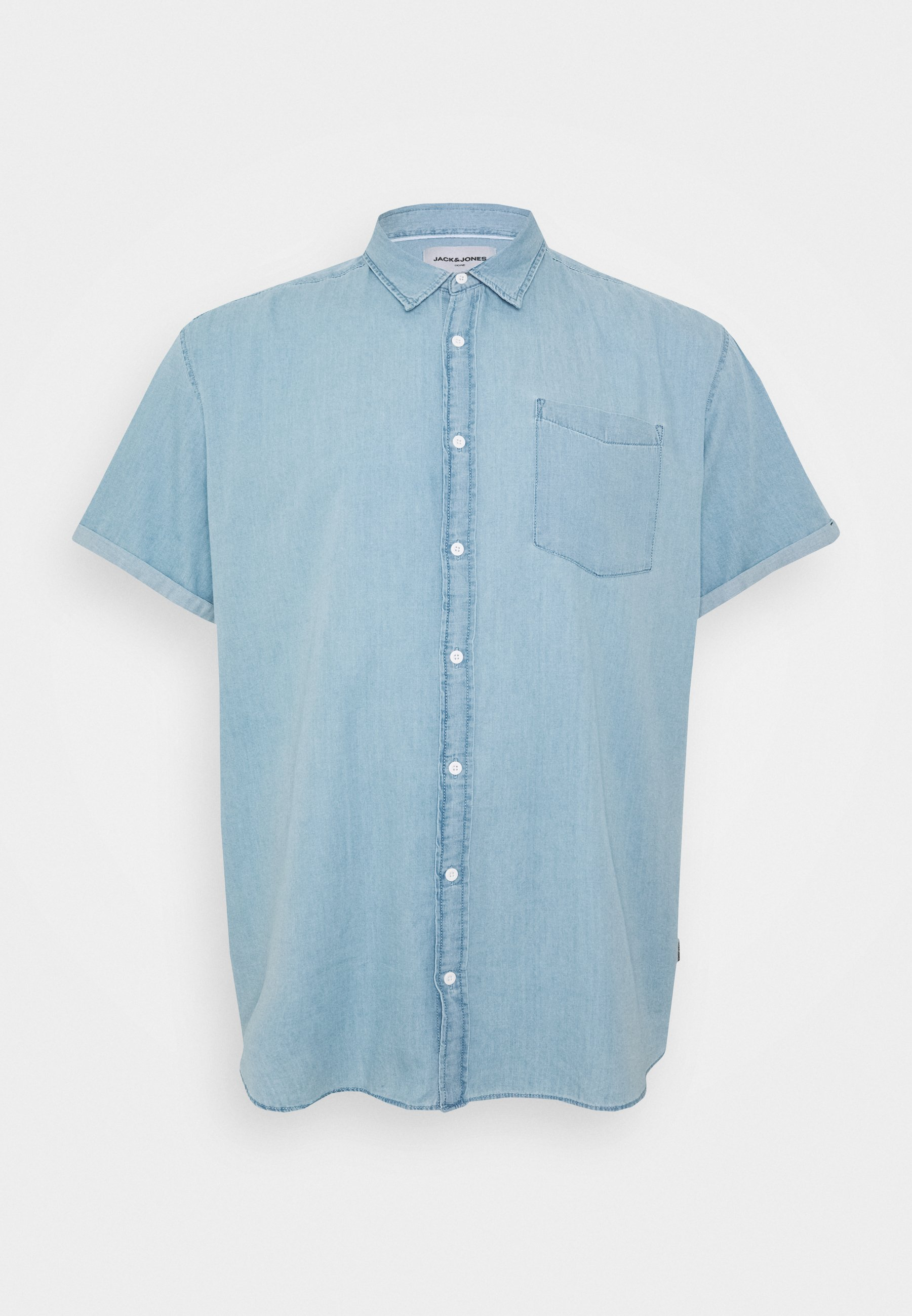 JCOKEN ONE POCKET Skjorter light blue denim
