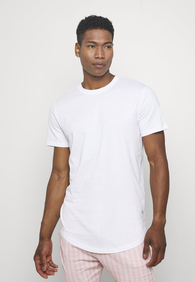JJENOATEE CREW NECK  - Basic T-shirt - white
