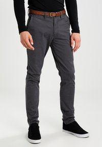 Jack & Jones - JJICODY JJSPENCER - Trousers - dark grey - 0