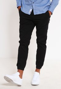 Jack & Jones - JJIVEGA JJLANE  - Spodnie materiałowe - black - 0