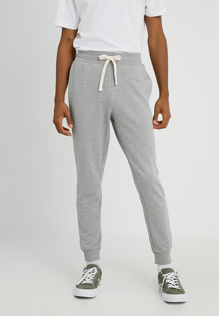 Jack & Jones - JEHOLMEN   - Pantalones deportivos - light grey melange