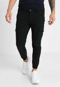 Jack & Jones - JJIPAUL JJFLAKE - Cargobroek - black - 0