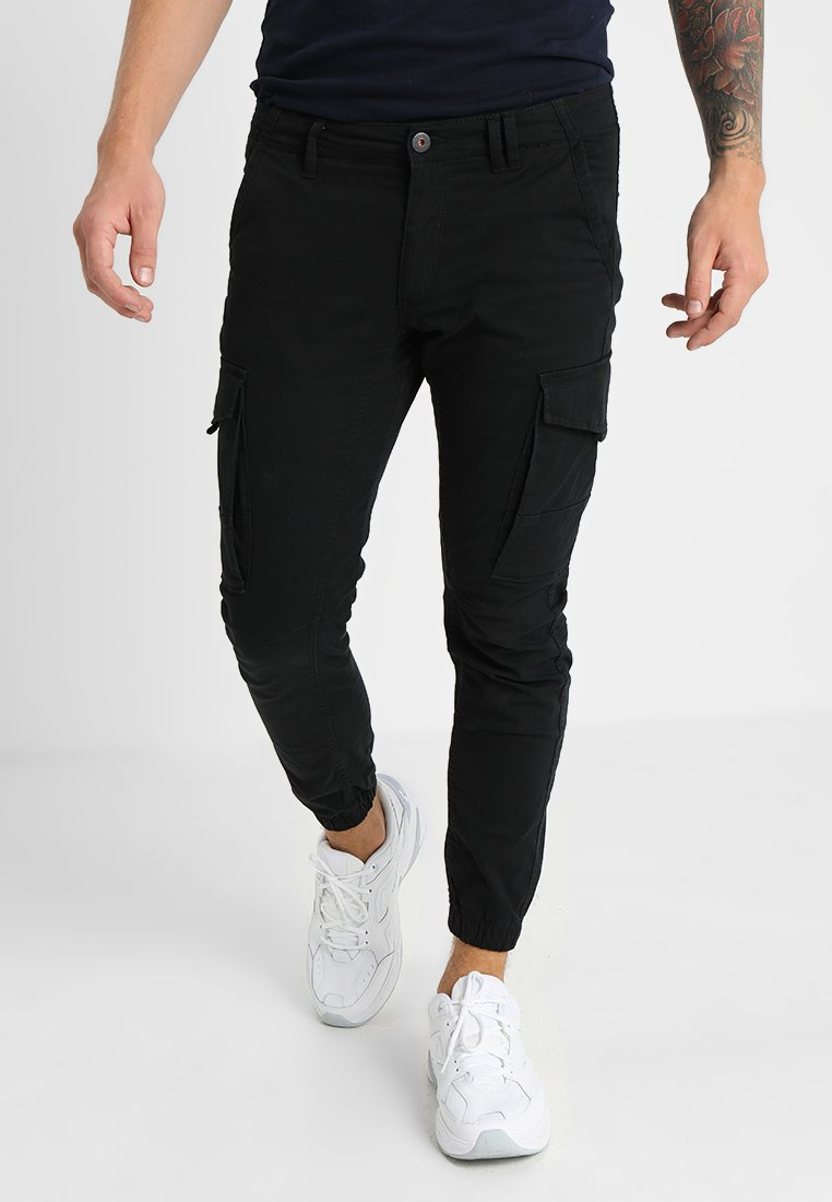 Jack & Jones - JJIPAUL JJFLAKE - Cargo trousers - black