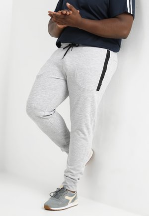 JCONEWWILL PANTS - Verryttelyhousut - light grey melange