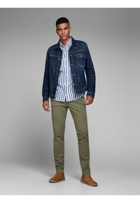 Jack & Jones - Chino kalhoty - olive night - 1