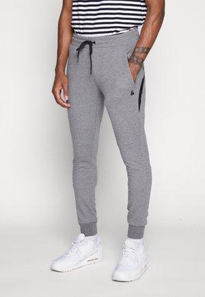 JJIWILL JJCLEAN PANTS - Teplákové kalhoty - grey melange