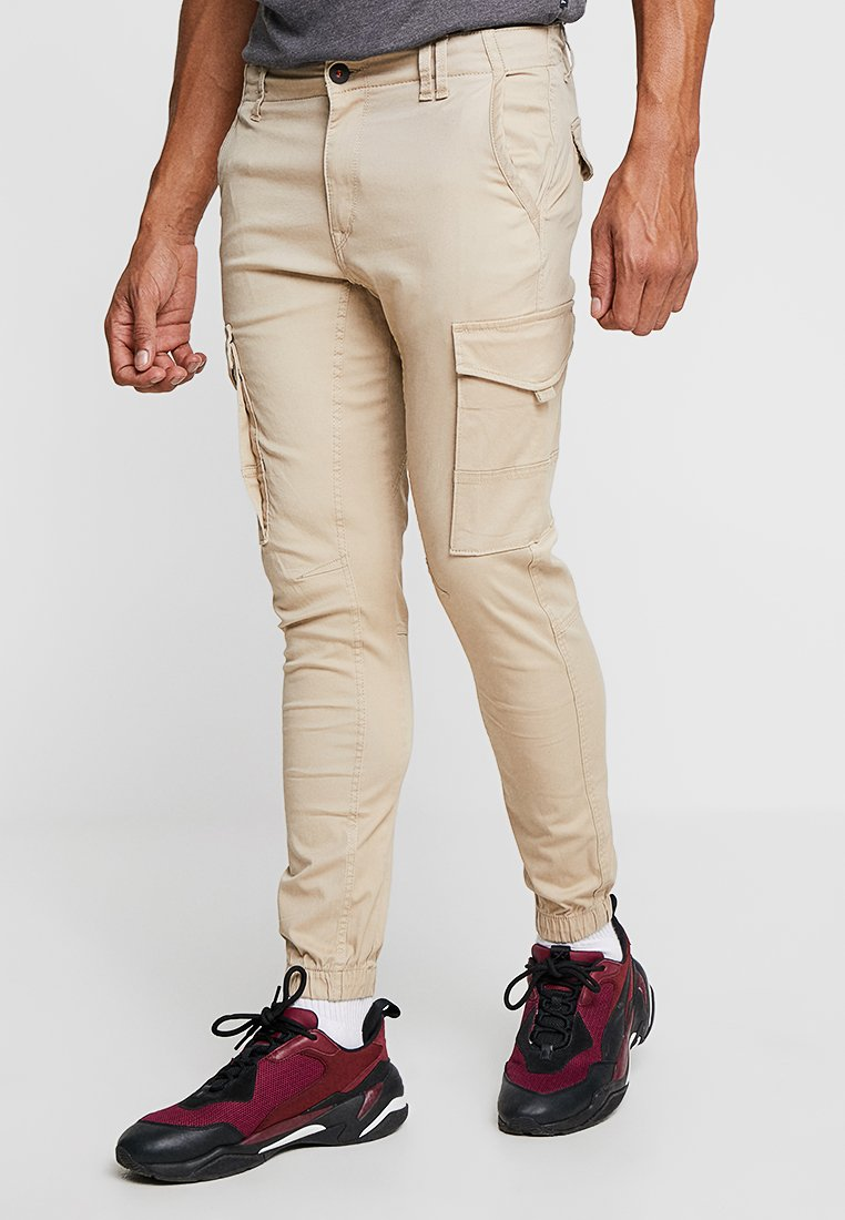 Jack & Jones - JJIPAUL JJFLAKE - Pantaloni cargo - white pepper