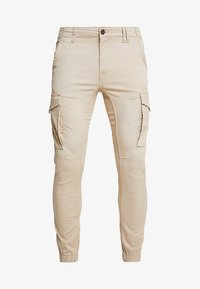 Jack & Jones - JJIPAUL JJFLAKE - Pantaloni cargo - white pepper - 4