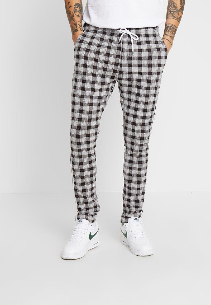 Jack & Jones - JJIWILL CHECK  - Trousers - light grey melange