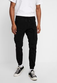 Jack & Jones - JJIGORDON JJLIFE - Pantaloni cargo - black - 0