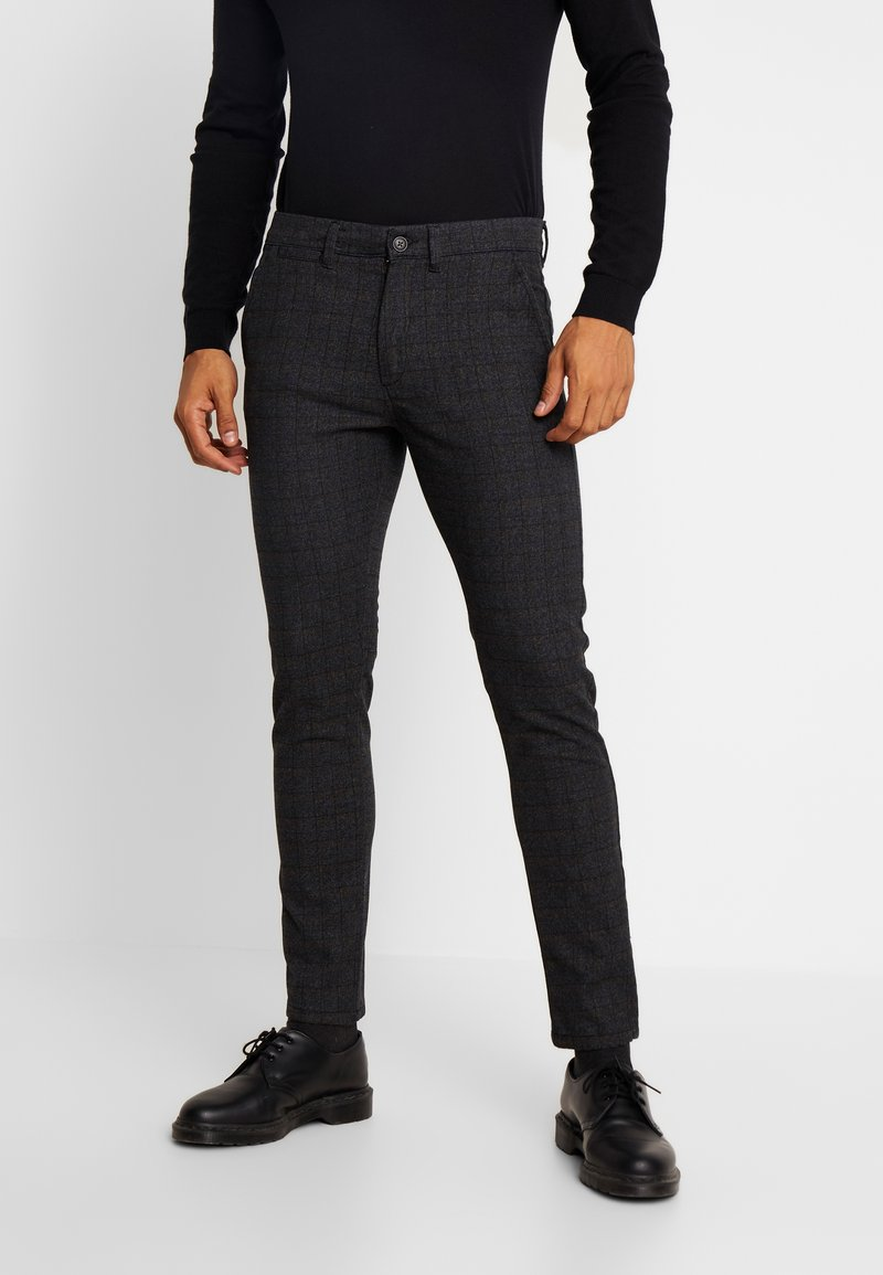 Jack & Jones - JJIMARCO JJCHARLES CHECK  - Trousers - black