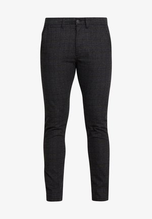JJIMARCO JJCHARLES CHECK  - Trousers - black