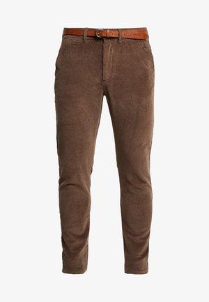 JJIMARCO  - Spodnie materiałowe - morel