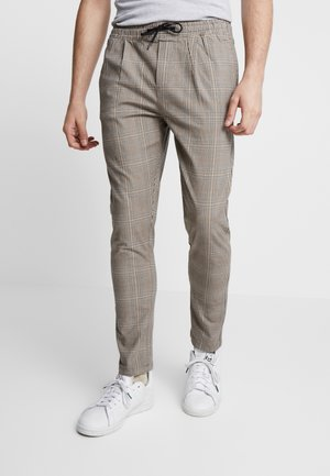 JJIACE FREDDY CHECK - Pantalon classique - brown stone