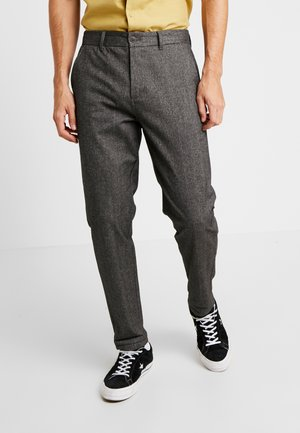JJIACECHARLES HERRINGBONE - Spodnie materiałowe - grey melange