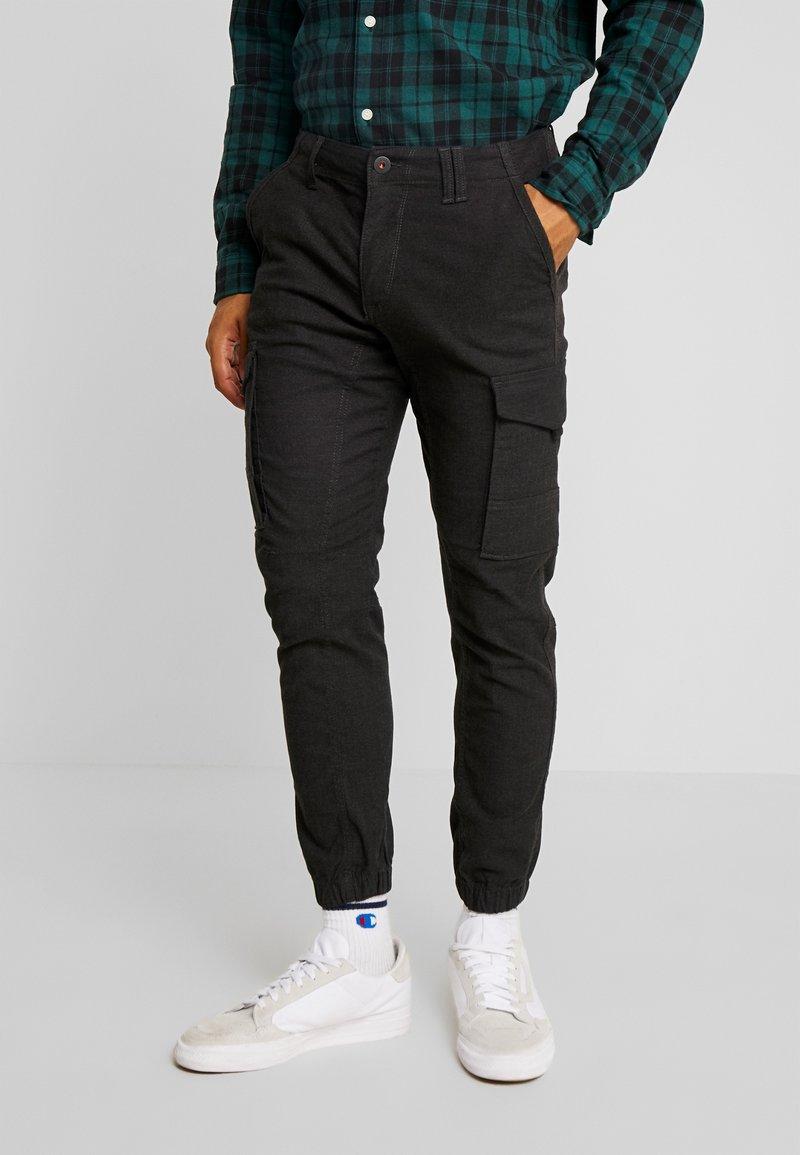 Jack & Jones - JJIPAUL JJFLAKE HERRINGBON - Pantaloni cargo - black