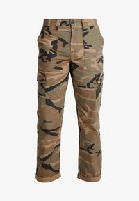 Jack & Jones - JJIACE CHARLIE CAMO - Cargobroek - olive night