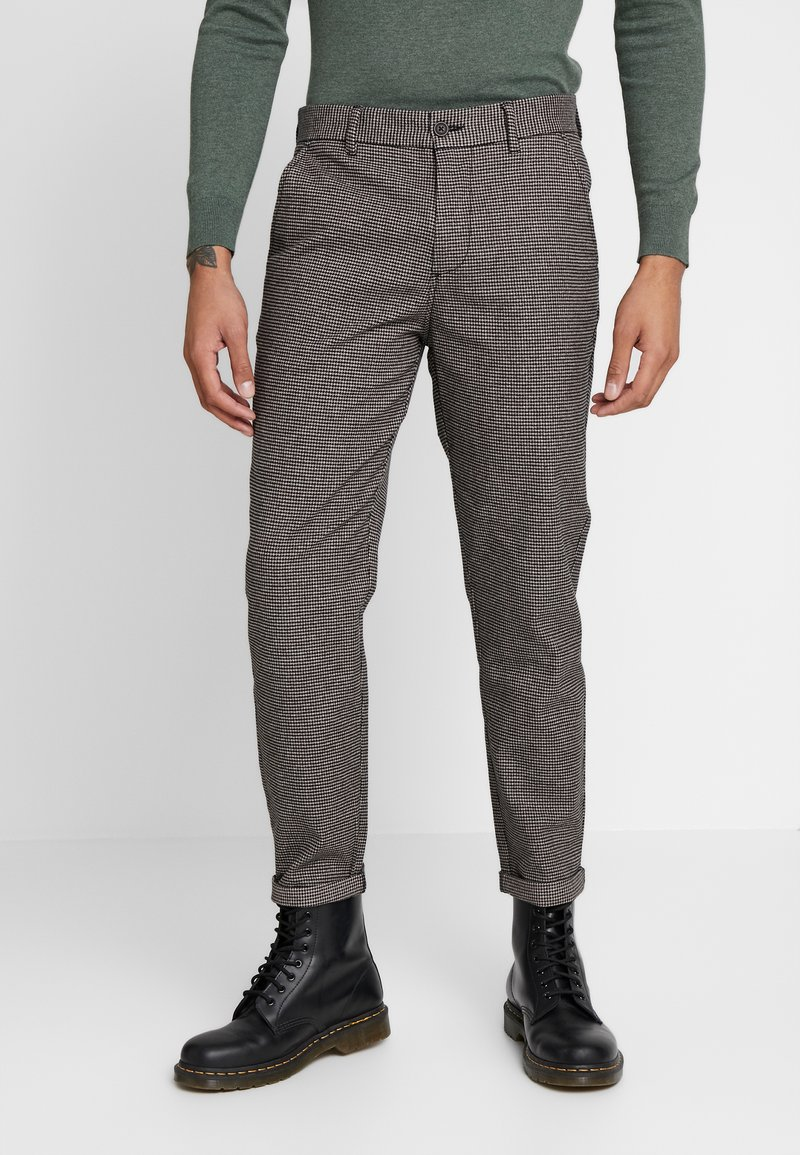Jack & Jones - JJIACE JJCHARLES HOUNDSTOOTH - Broek - brown/stone