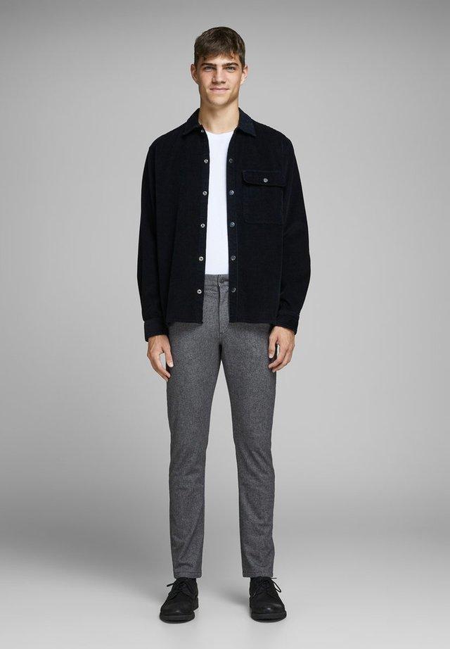 Chinos - light gray melange