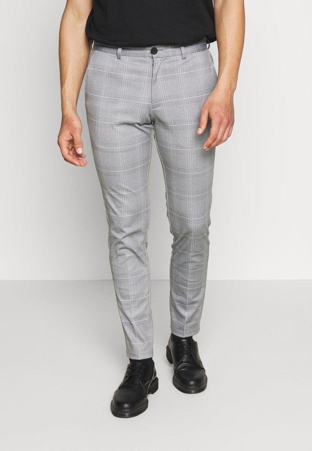 JJIMARCO JJPHIL NOR CHECK - Spodnie materiałowe - light gray