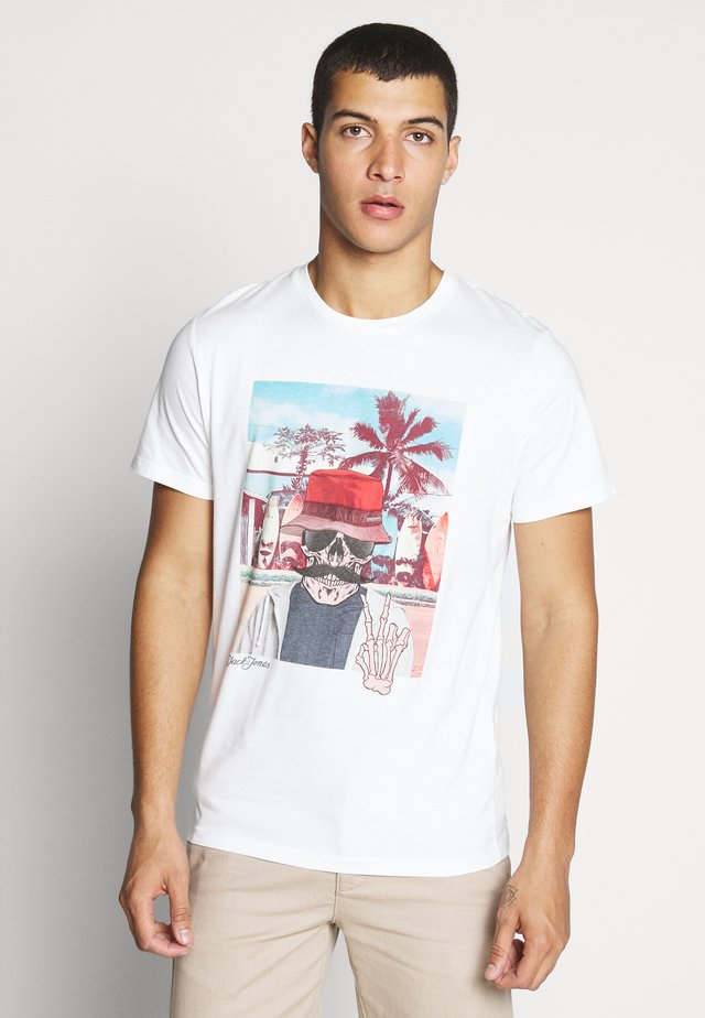 JORRICKY TEE CREW NECK - T-shirt con stampa - cloud dancer