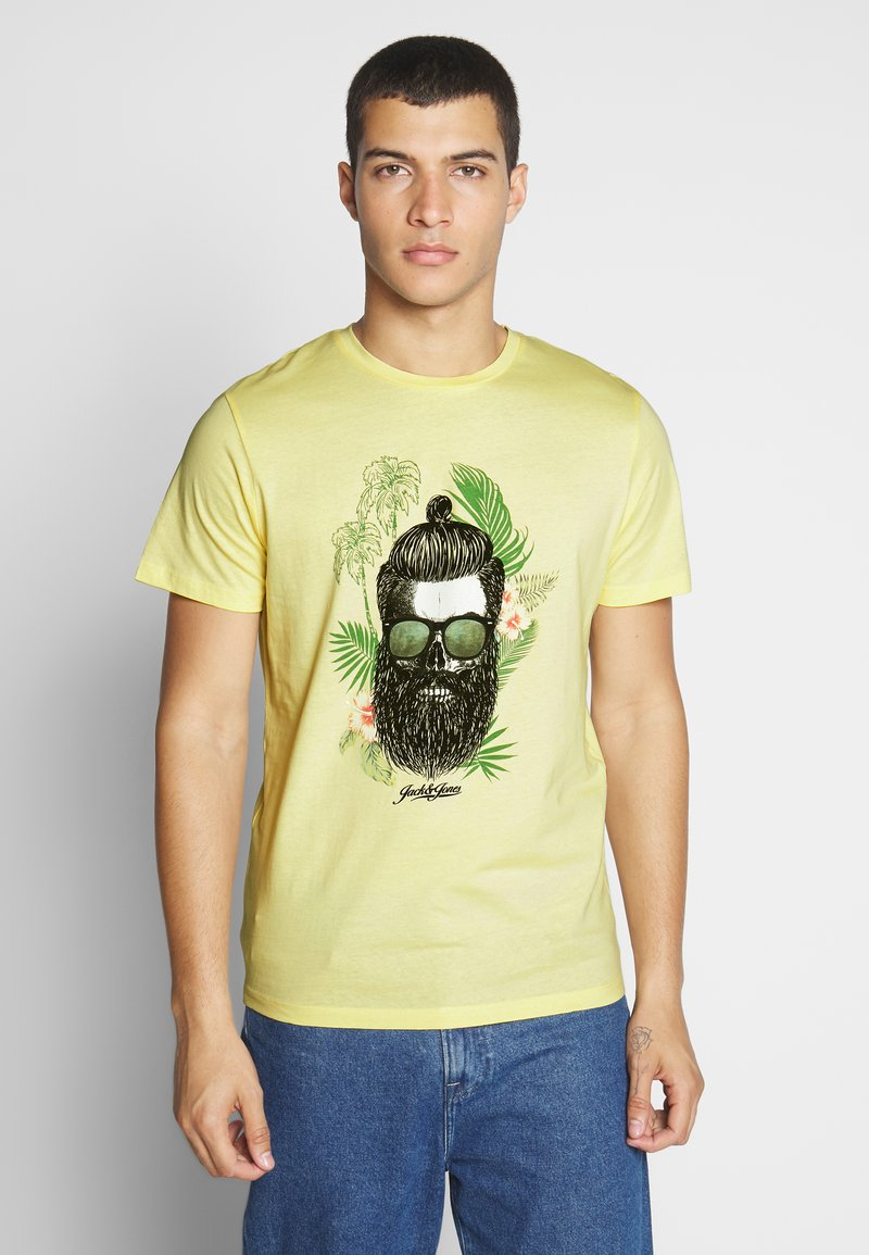Jack & Jones - JORRICKY TEE CREW NECK - T-shirt print - flan