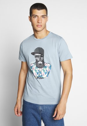 JORRICKY TEE CREW NECK - T-shirt print - ashley blue
