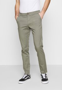Jack & Jones - JJIMARCO JJDAVE 2 PACK - Chinosy - black/dusty olive