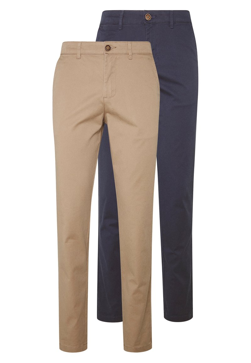Jack & Jones - JJIMARCO JJDAVE 2 PACK - Chinos - beige/navy blazer