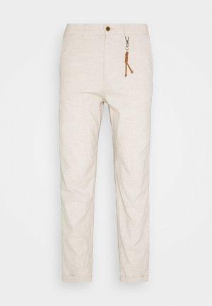 JJIACE JJLINEN  - Pantalon classique - silver birch