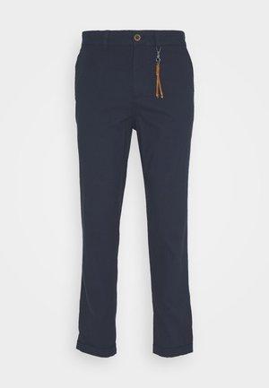 JJIACE JJLINEN  - Trousers - navy blazer