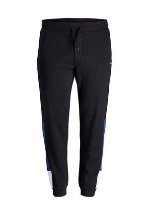 PLUS SIZE JOGGINGHOSE LOGOPRINT - Verryttelyhousut - black
