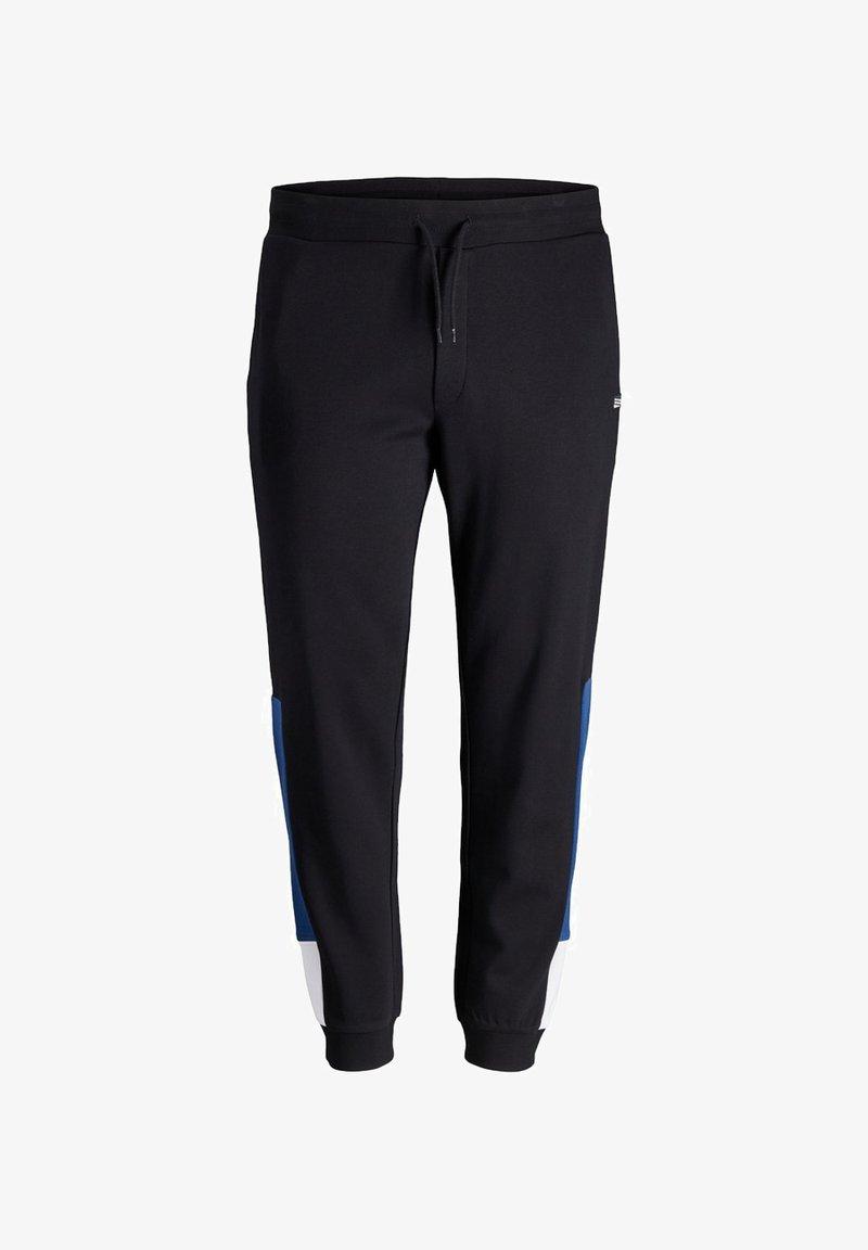 Jack & Jones - PLUS SIZE JOGGINGHOSE LOGOPRINT - Pantaloni sportivi - black
