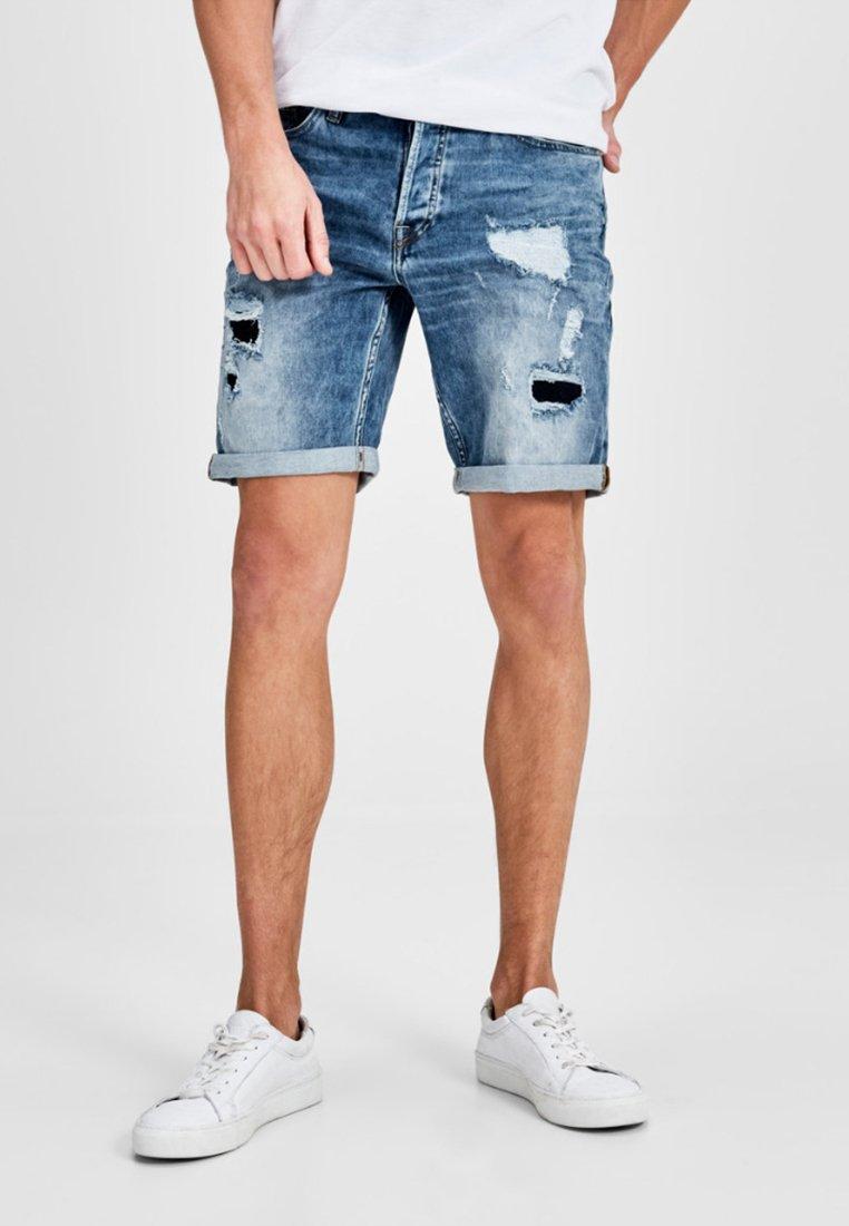 Jack & Jones - RICK ORIGINAL - Denim shorts - blue denim