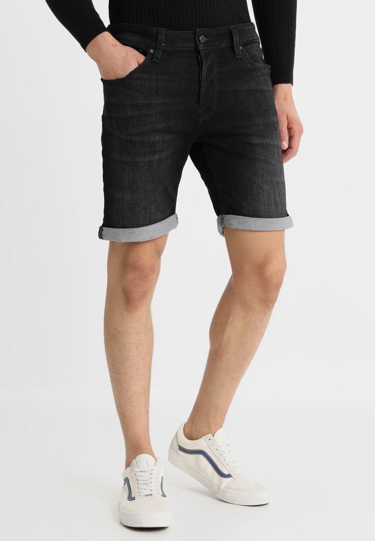 Jack & Jones - JJIRICK JJICON - Jeans Shorts - black denim