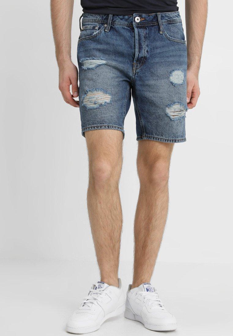 Jack & Jones - JJIRICK CAMP - Jeans Shorts - blue denim