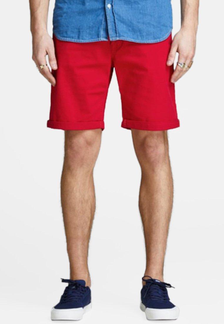 Jack & Jones - JJIRICK - Denim shorts - red
