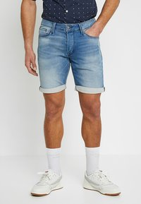 Jack & Jones - JJIRICK JJICON - Jeans Shorts - blue denim - 0