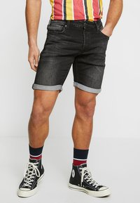 Jack & Jones - JJIRICK JJICON - Jeansshort - black denim - 2