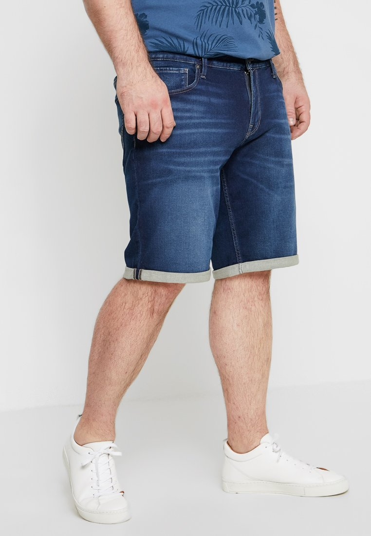 Jack & Jones - JJIRICK JJICON - Denim shorts - blue denim