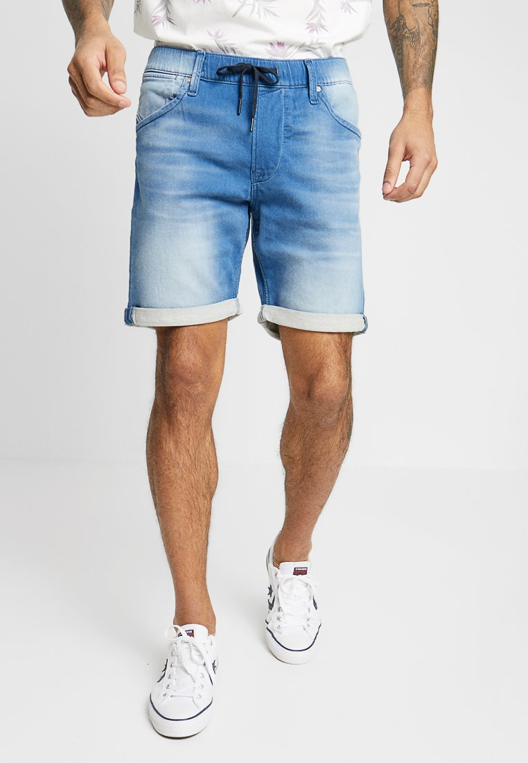 Jack & Jones - JJIRICK JJDASH - Denim shorts - blue denim